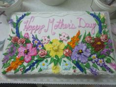 Mother's Day Sheet Cake
