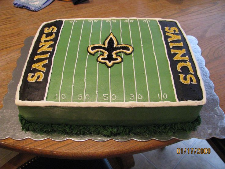 11 New Orleans Saints Bday Cakes Photo New Orleans Saints Cake