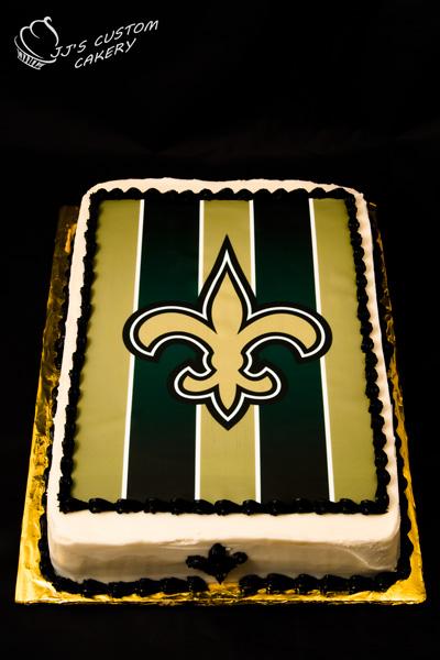New Orleans Saints Birthday Cake