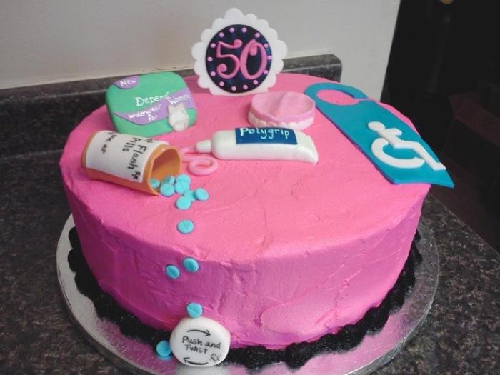 Stupendous 11 50Th Birthday Cakes On Pinterest Photo Over The Hill 50Th Funny Birthday Cards Online Benoljebrpdamsfinfo