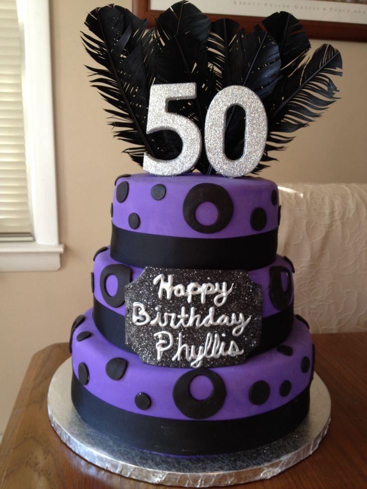 12 Black And Purple Birthday Cakes Photo Black Silver And Purple