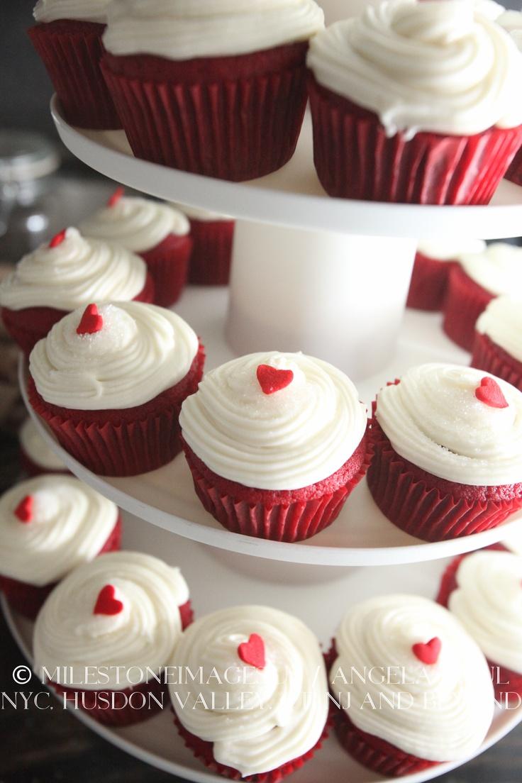 10 Red Velvet Wedding Cake With Cup Cakes Photo Red Velvet Wedding