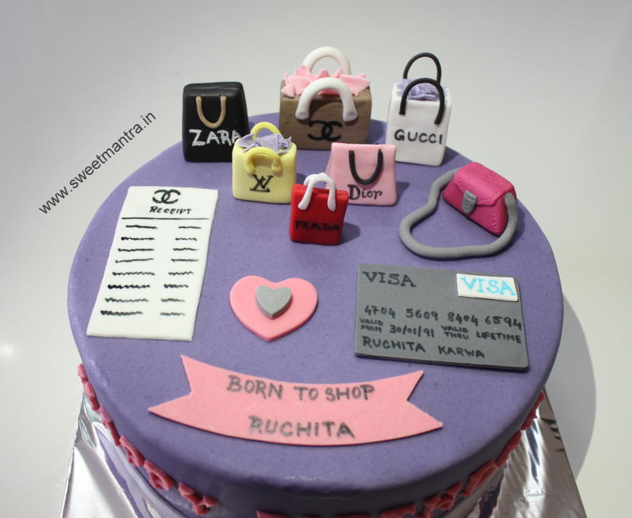 9 Shopping Themed Mini Cakes Photo Shopping Theme Birthday Cake