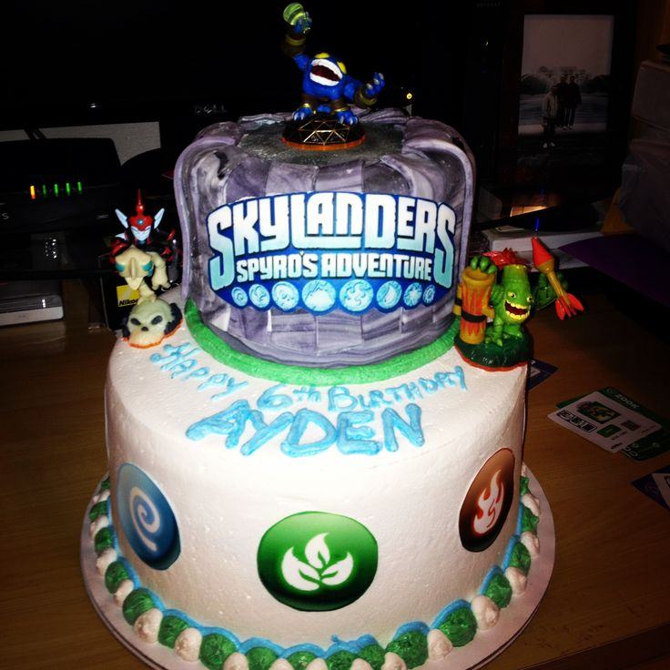 Phenomenal 12 Skylanders Birthday Cakes For Boys Photo Skylander Birthday Funny Birthday Cards Online Inifodamsfinfo