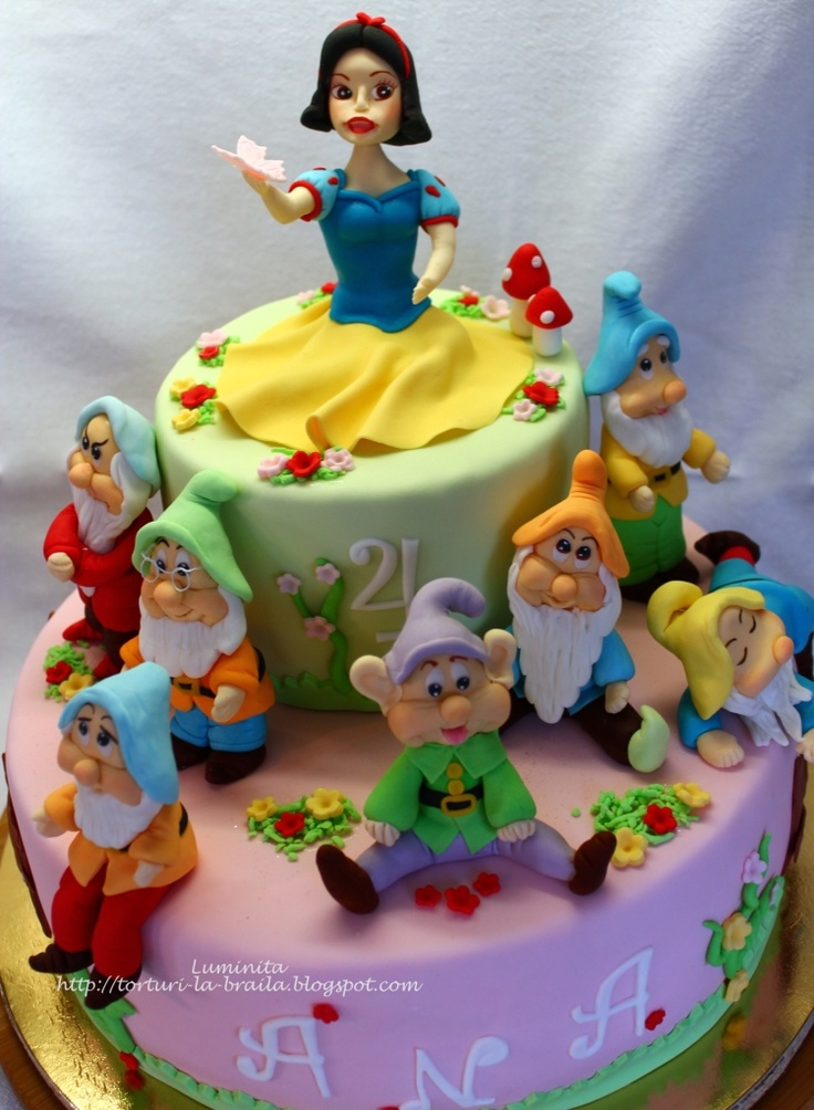 Astonishing 11 Snow White Cakes Photo Snow White Cake Snow White Cake Ideas Funny Birthday Cards Online Alyptdamsfinfo