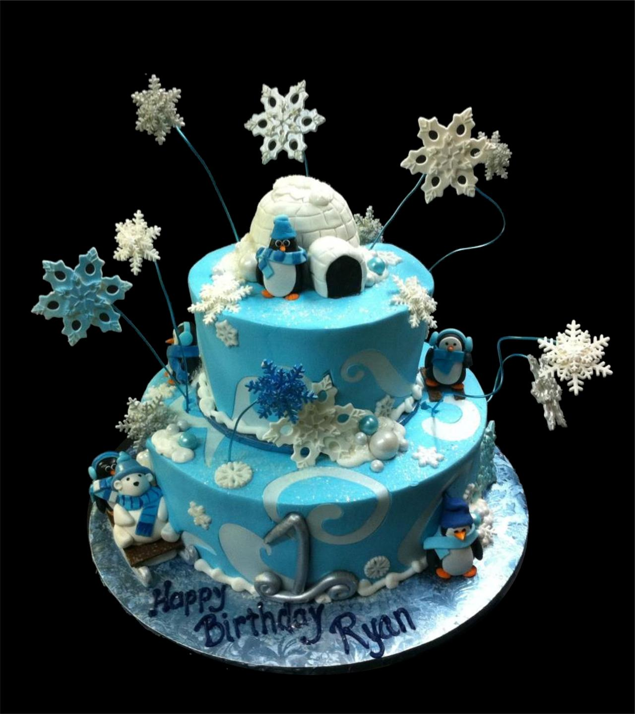 Phenomenal 9 Snow Themed Birthday Cakes Photo Ice Skating Birthday Cake Funny Birthday Cards Online Fluifree Goldxyz
