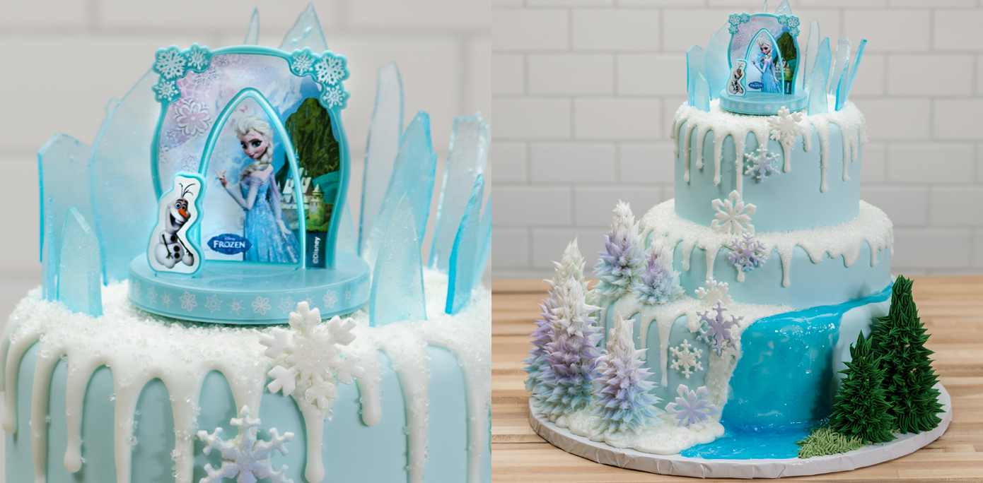 7 3 Tier Birthday Cakes Frozen Elsa Photo Three Tier Birthday Cake