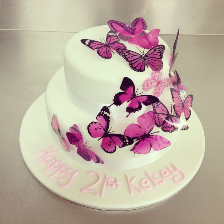 10 Dance 2 Layer Cakes Photo 2 Tier Butterfly Birthday Cakes 2