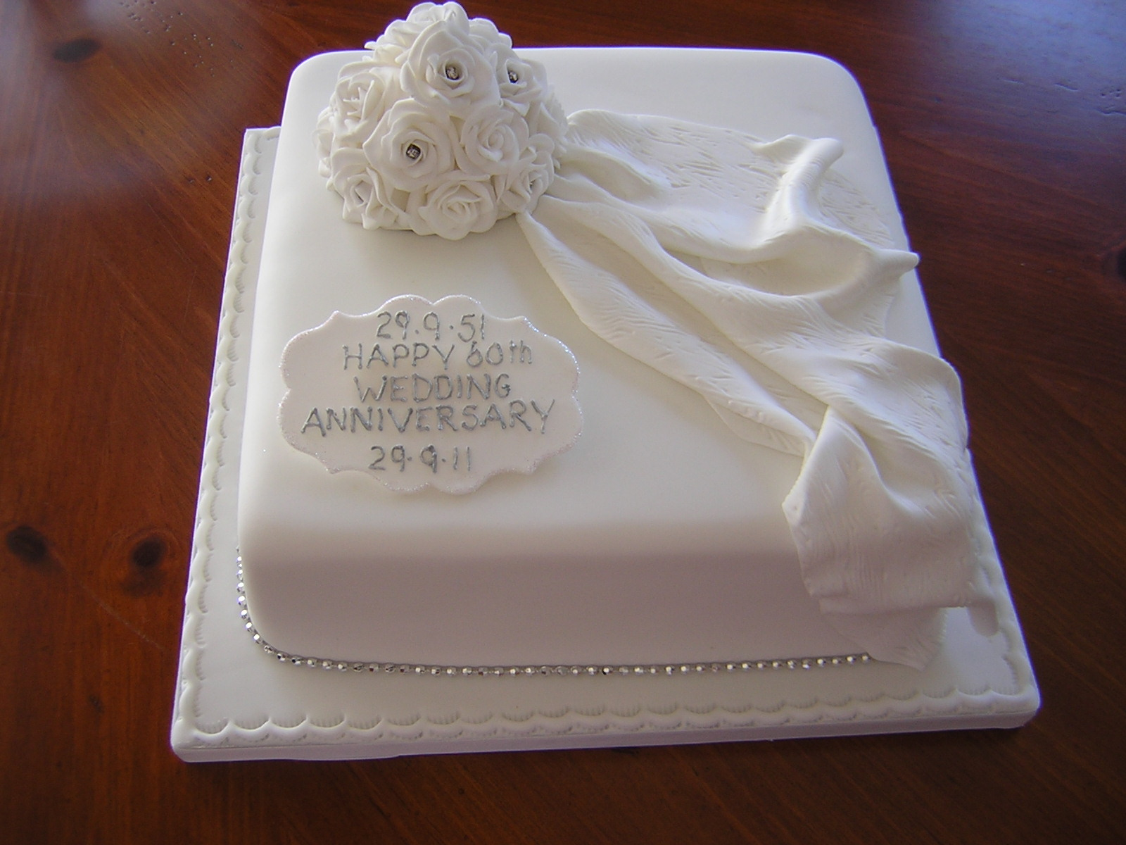 60th Wedding Anniversary Cake Ideas