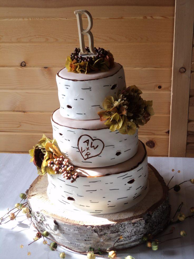 9 Birch Tree Wedding Cakes Fondant Photo - Wedding Cakes That Look ...