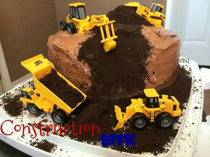 Astounding 10 Construction Cakes For Boys Photo Boy Construction Birthday Funny Birthday Cards Online Fluifree Goldxyz