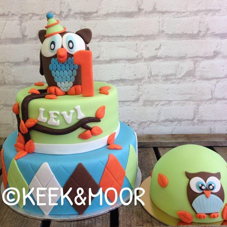 12 Owl Birthday Cakes For Boy Photo Owl Themed Birthday Cake Boy