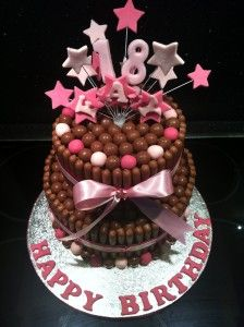 11 Chocolate Birthday Cakes For Girls Photo