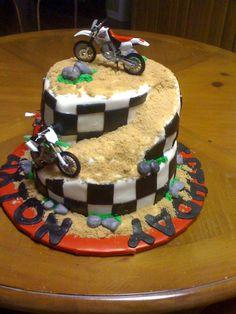 Fine 11 Cool Motocross Cakes Photo Cool Motocross Birthday Cakes Birthday Cards Printable Trancafe Filternl