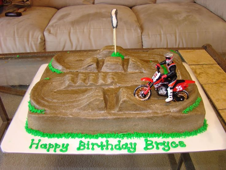 Awesome 11 Cool Motocross Cakes Photo Cool Motocross Birthday Cakes Funny Birthday Cards Online Overcheapnameinfo