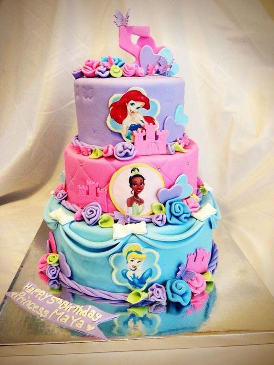 Astounding 11 Disney Princess Cakes Amazing Photo Disney Princess Cake Birthday Cards Printable Trancafe Filternl
