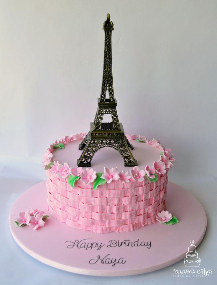 10 Paris Birthday Cakes Buttercream Photo Paris Theme Cake