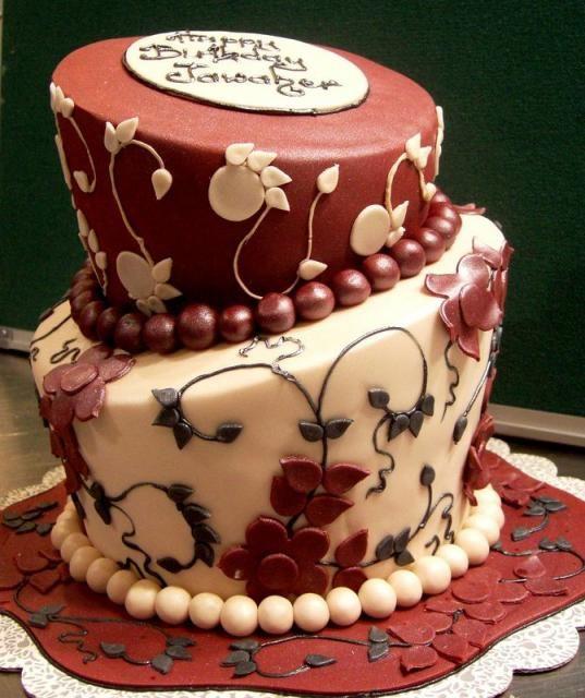7 Elegant Adult Birthday Cakes Photo Elegant Birthday Cake