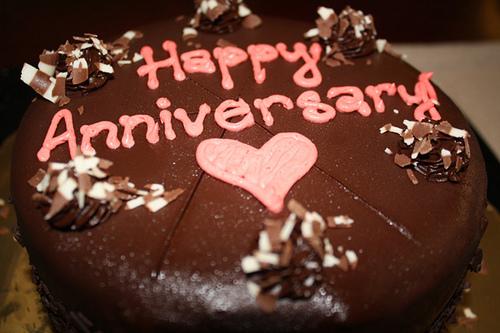 Happy anniversary chocolate cakes photo happy wedding