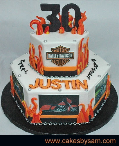 11 Harley Motorcycle Cakes For Adults Photo HarleyDavidson