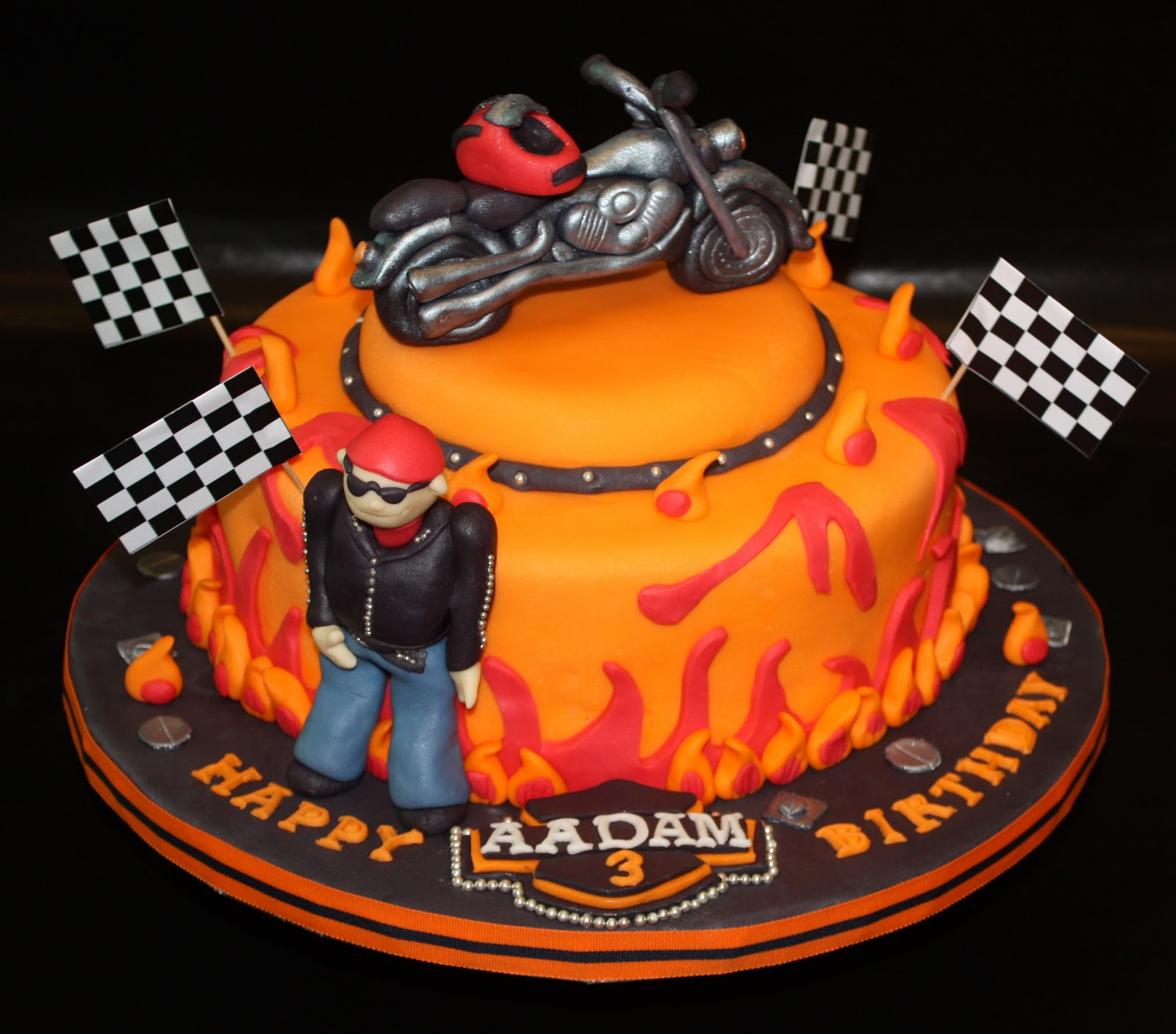 11 Bikers Themed Cakes Photo HarleyDavidson Birthday Cake Biker