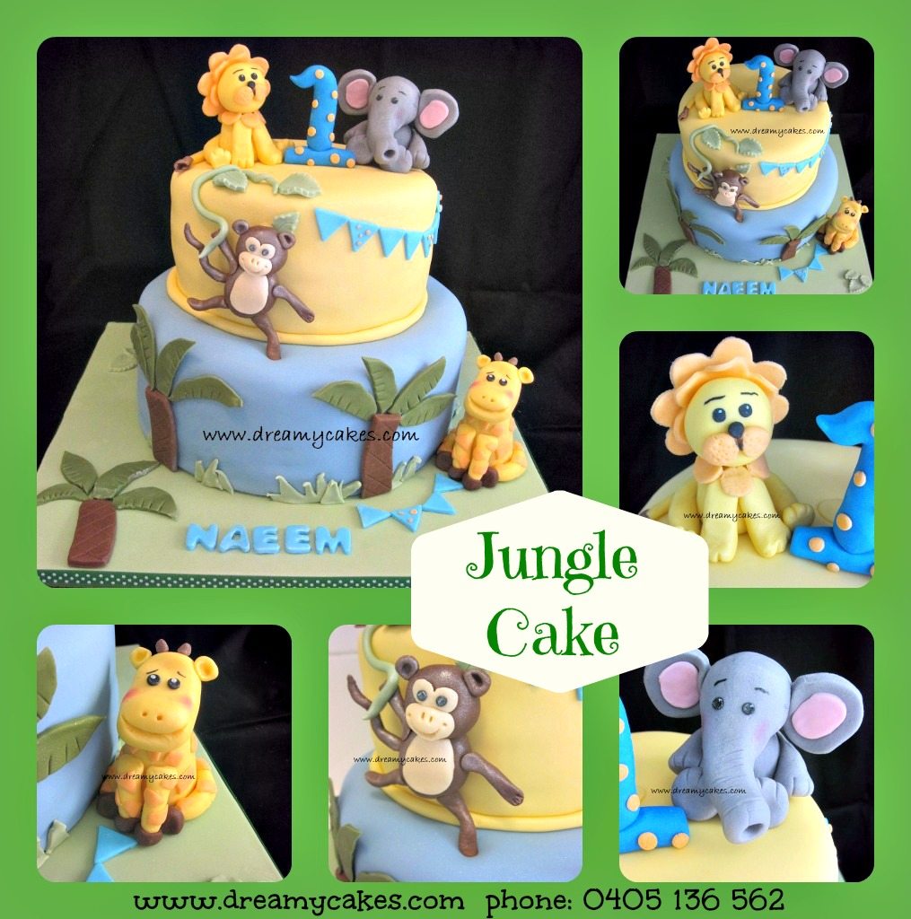 9 Sheet Cakes Jungle 1st Birthday Cupcakes Photo Jungle 1st