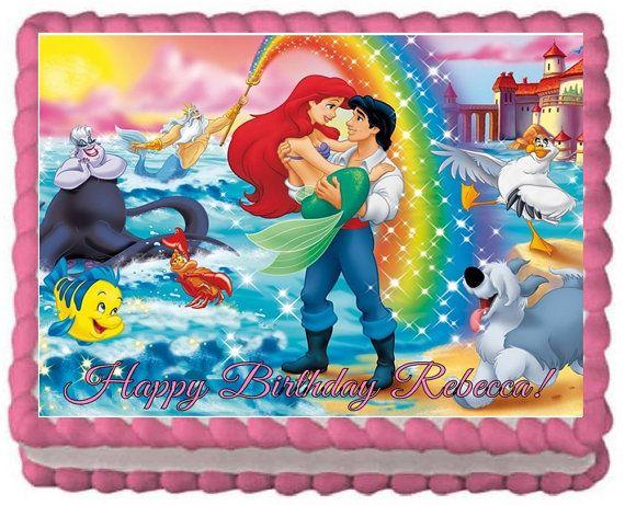 11 Ariel Mermaid Sheet Cakes Photo Little Mermaid Sheet Cake