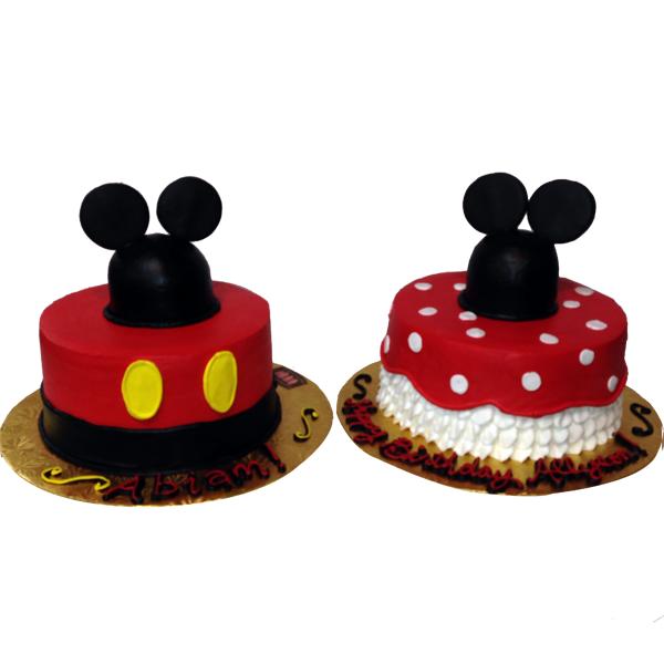 Enjoyable 11 Mickey And Minnie Mouse Cakes Photo Mickey And Minnie Mouse Funny Birthday Cards Online Overcheapnameinfo