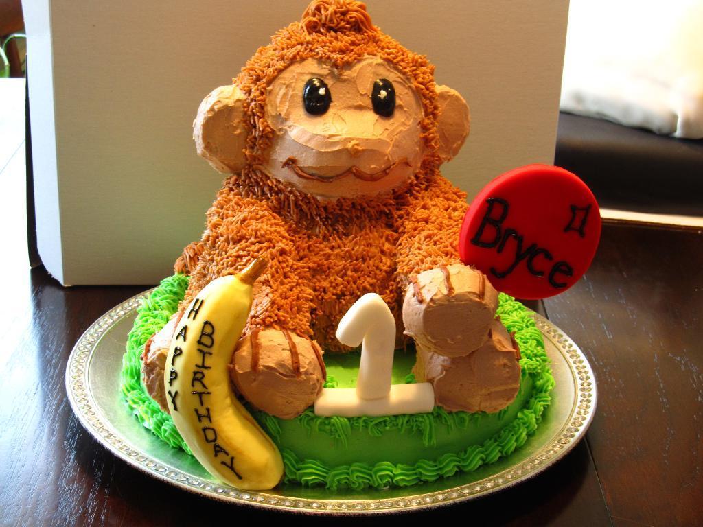 13 Monkeys Cakes Decoration Ideas Photo Monkey Birthday Cake Ideas