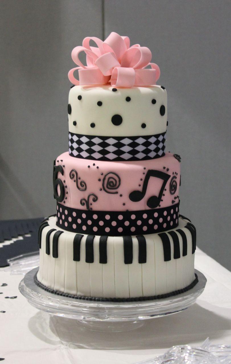 12 Pretty Birthday Cakes Music Photo Music Themed Birthday Cake