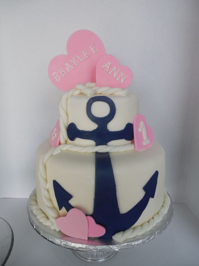 13 Nautical Birthday Cakes For Girls Photo Nautical Girls Birthday