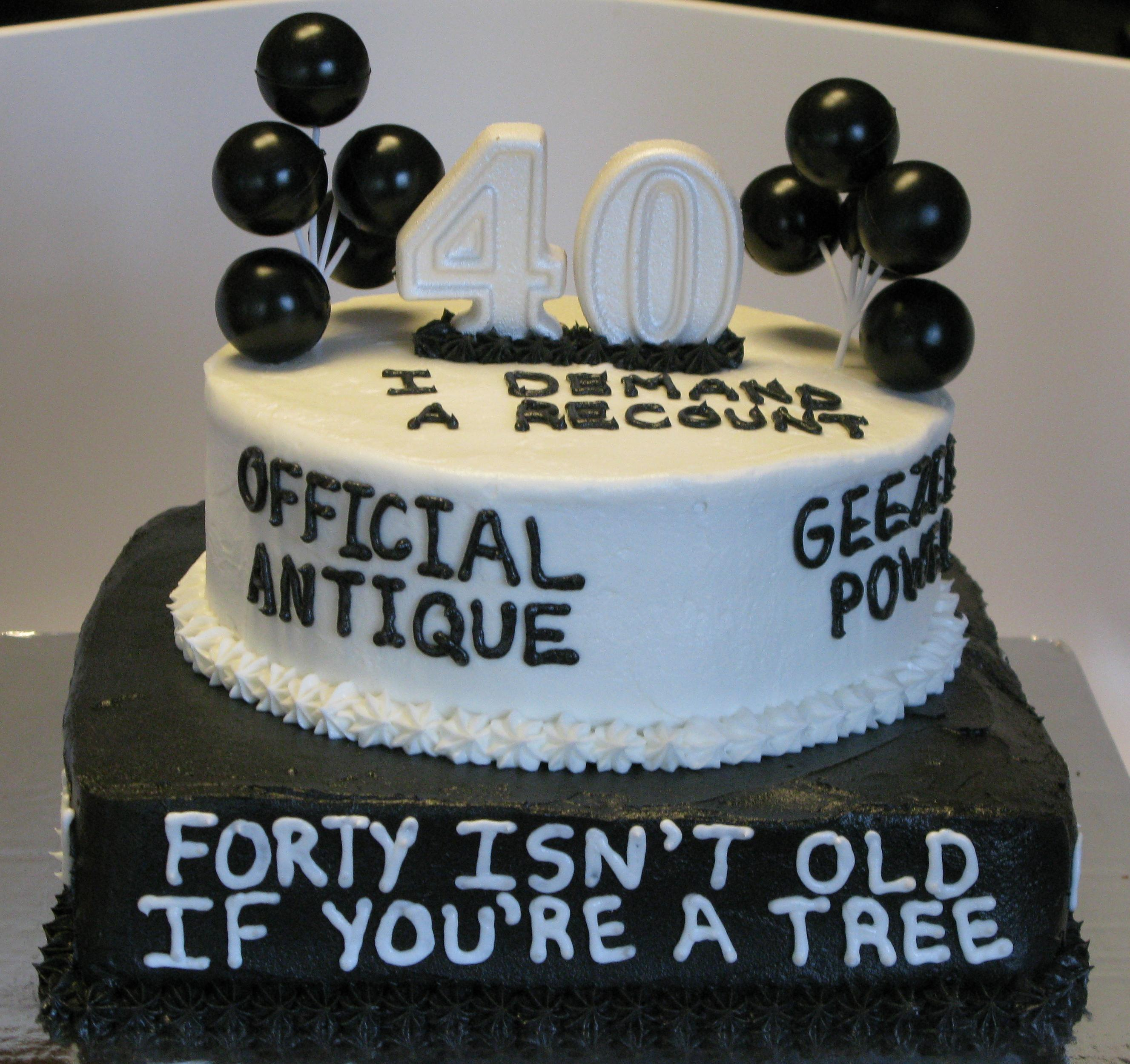 10 Funny 40 Birthday Cakes Photo 40th Cake Ideas Women
