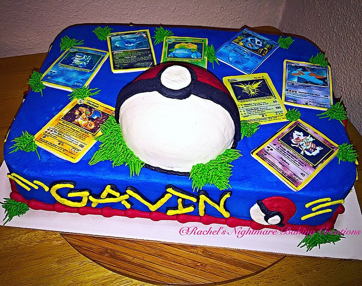 12 1 2 Sheet Pokeman Cakes Photo 1 4 Sheet Birthday Cake Pokemon