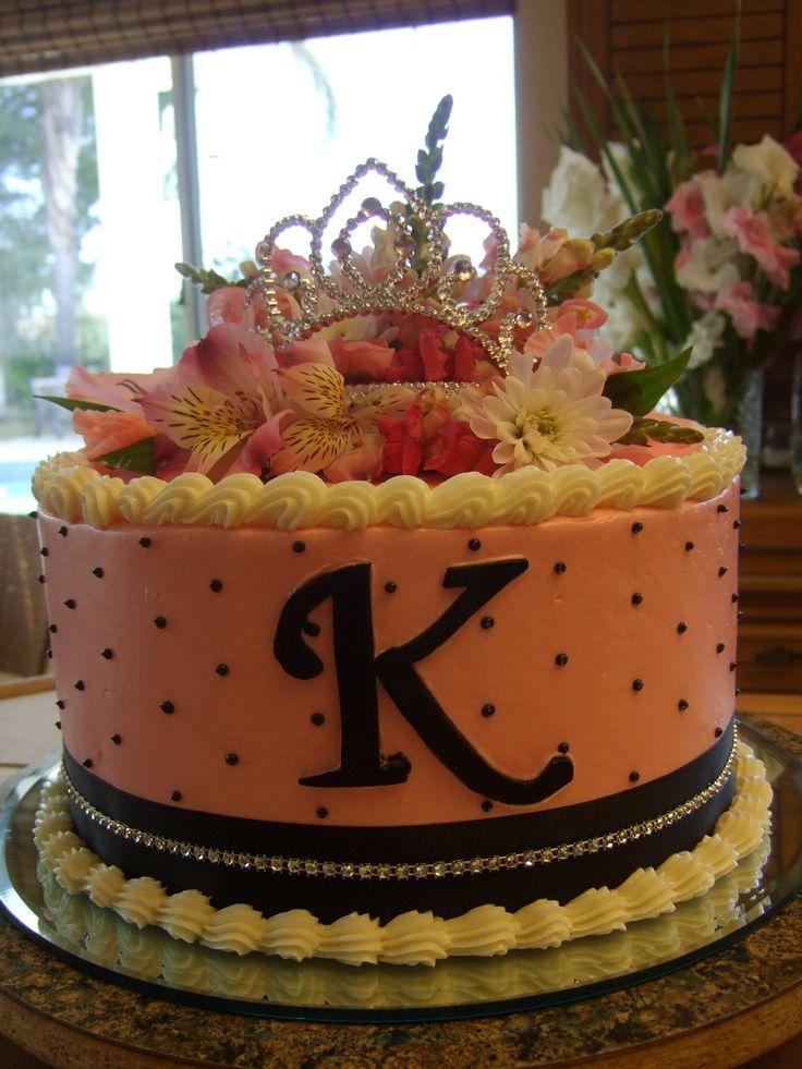 Princess Birthday Cake Flowers