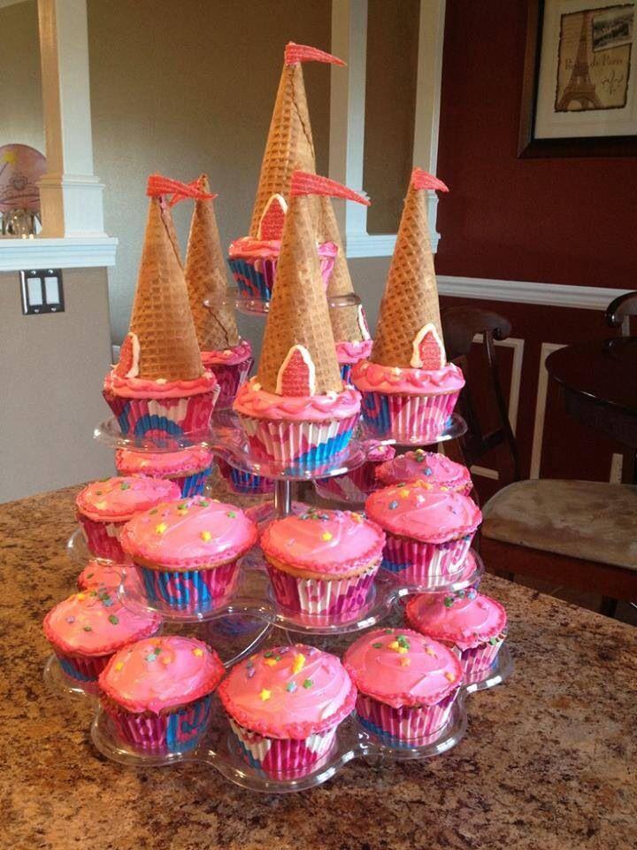 Princess Castle Birthday Cake Cupcakes