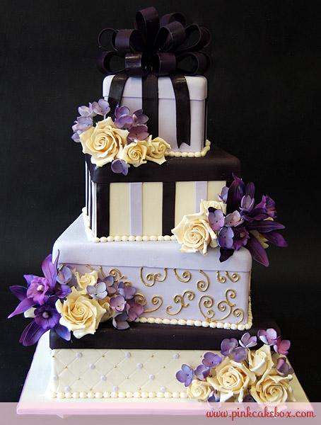 9 Pink Cake Box Wedding Cakes Photo Pink Ombre Wedding Cake Baby