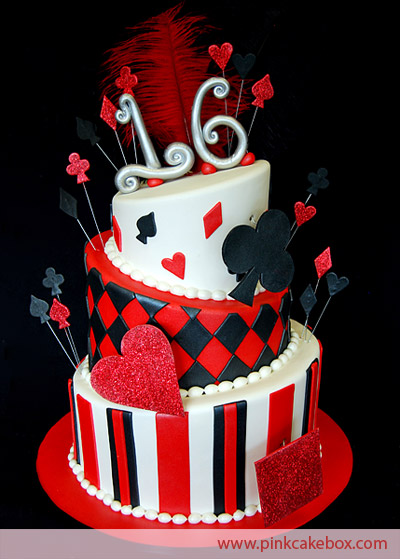 13 Red And Black Sweet 16 Cakes Photo Red And Black Sweet 16 Cake