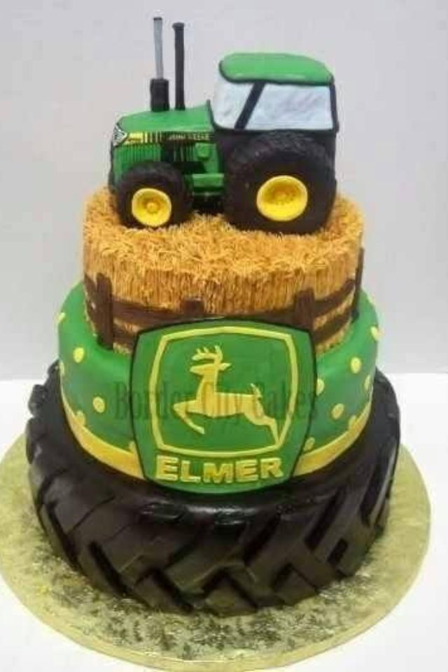 Phenomenal 11 John Deere Birthday Cakes Photo John Deere Birthday Cake Funny Birthday Cards Online Elaedamsfinfo