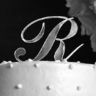 wedding cake topper letter r