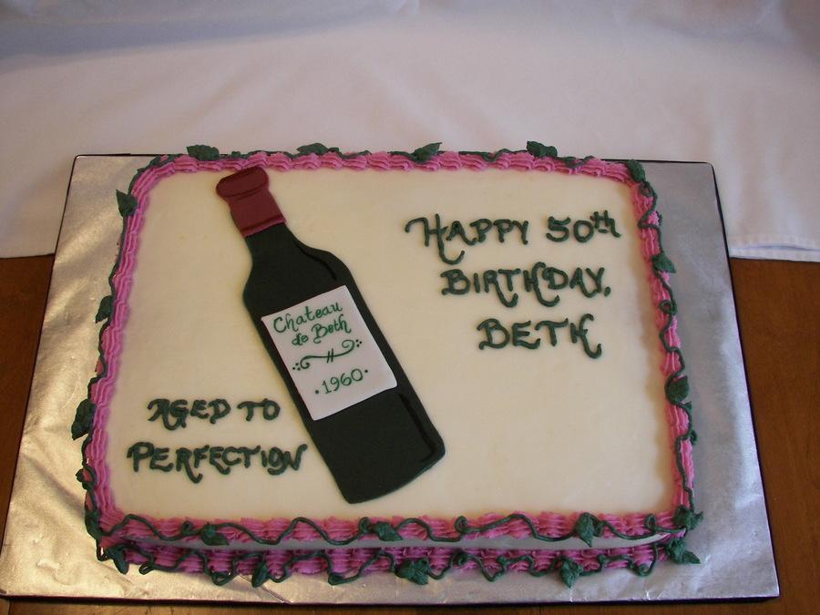 Women 50th Birthdays Sheets Cakes Idea
