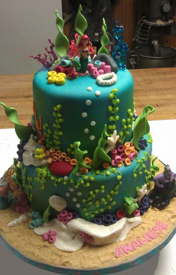 9 Ariel Birthday Cakes Beautiful Photo Little Mermaid Birthday