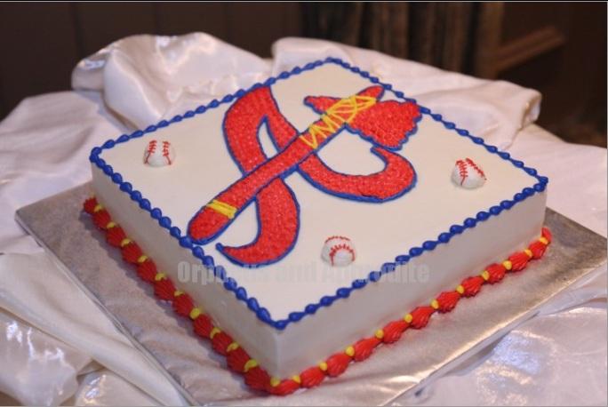 11 Atlanta Braves Wedding Cakes Photo