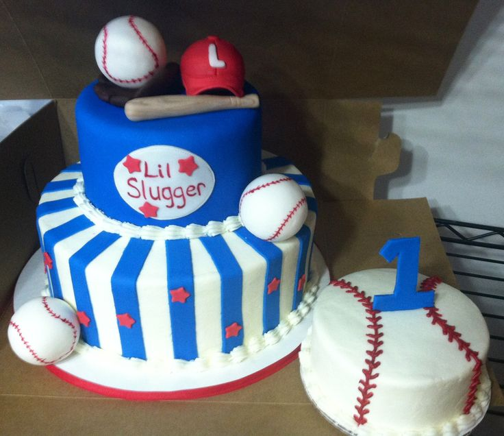 11 Baseball 2 Tier Birthday Cakes Photo Baseball Birthday Cake 2