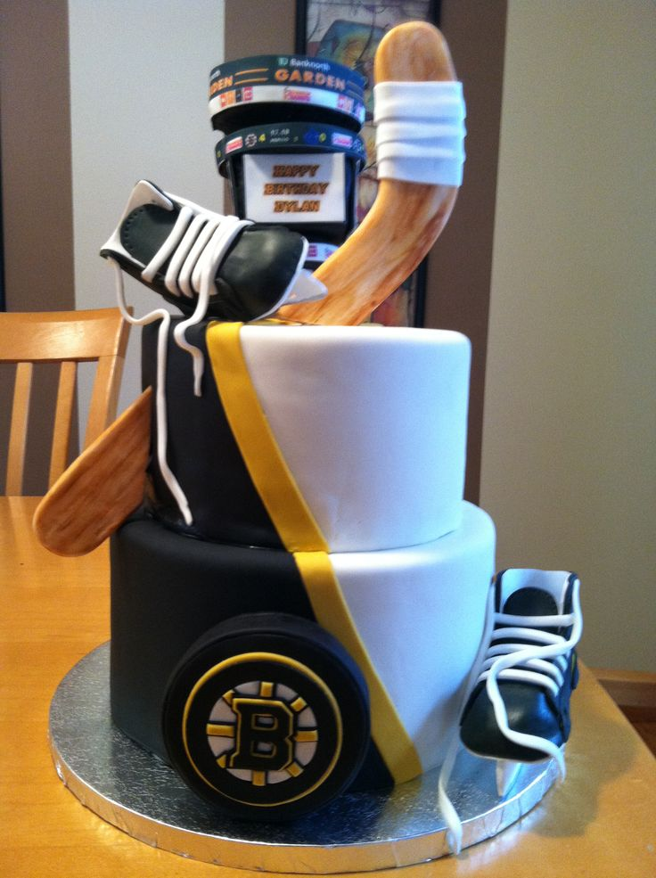 Boston Bruins Hockey Cake