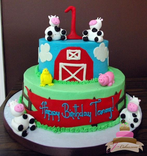 11 Farm Themed Birthday Cakes Photo Farm Animals Birthday Cake