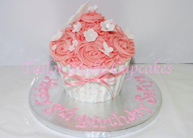 Giant Cupcake Via Birthday Cake