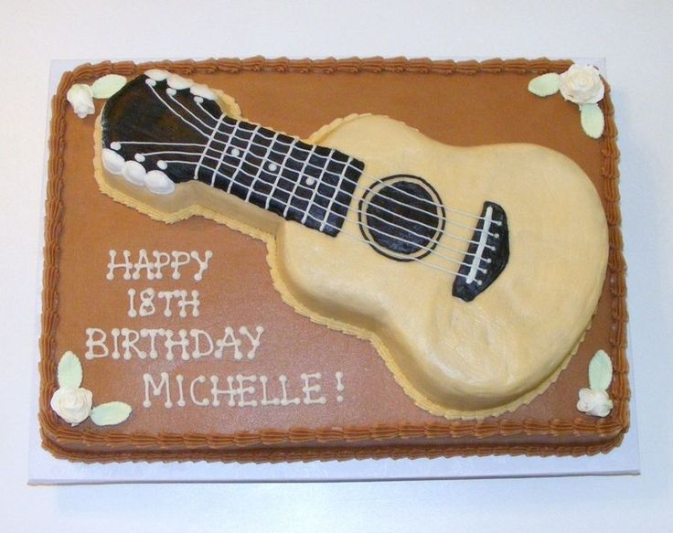 6 Guitar Cakes Buttercream Photo Guitar Birthday Cake Ideas