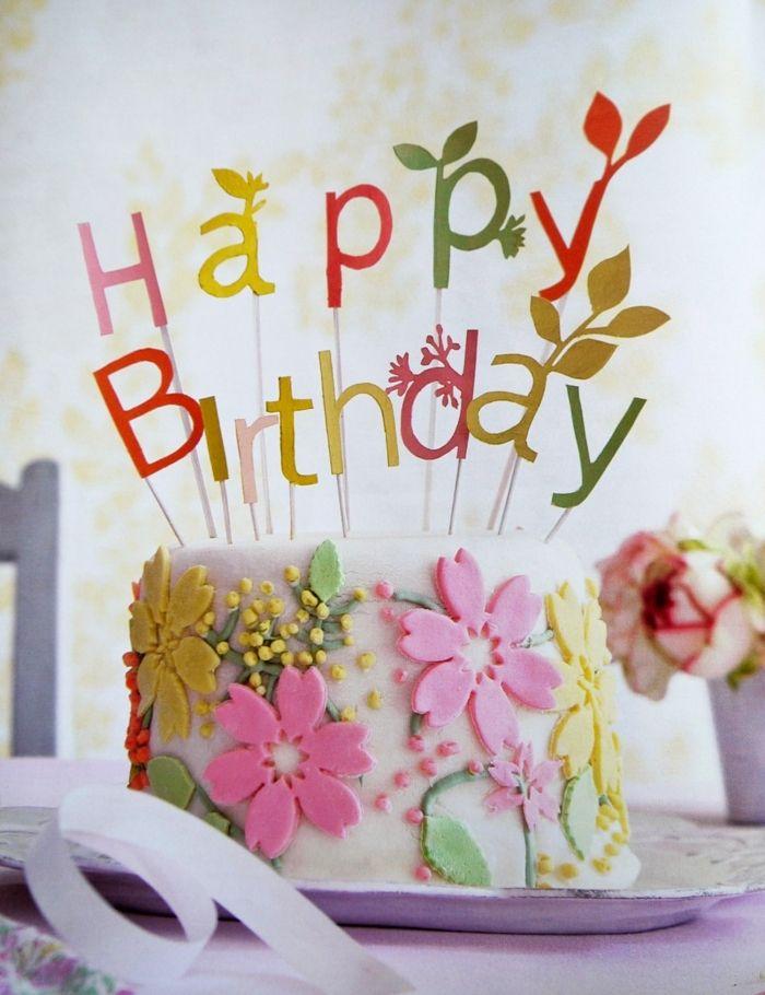 12 Happy Birthday Cupcakes With Flowers Photo