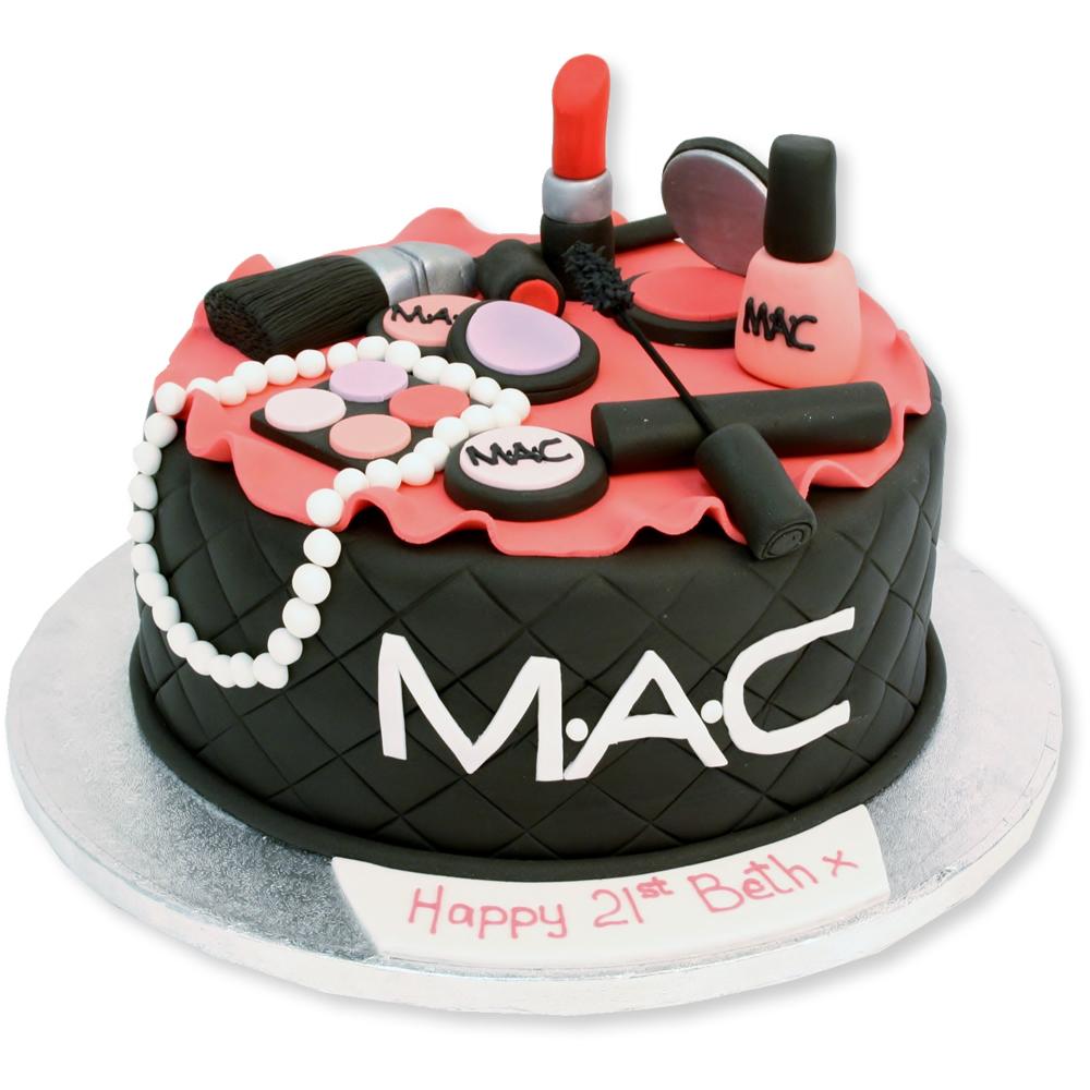 Amazing 10 Amazing Makeup Cakes Photo Makeup Birthday Cake Ideas Mac Personalised Birthday Cards Sponlily Jamesorg