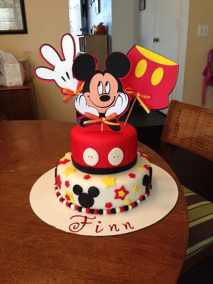 Prime 13 Mickey Mouse First Birthday Cake And Cupcakes Photo Mickey Birthday Cards Printable Trancafe Filternl